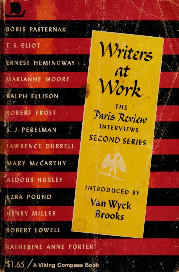 Writers at work by The Paris Review.